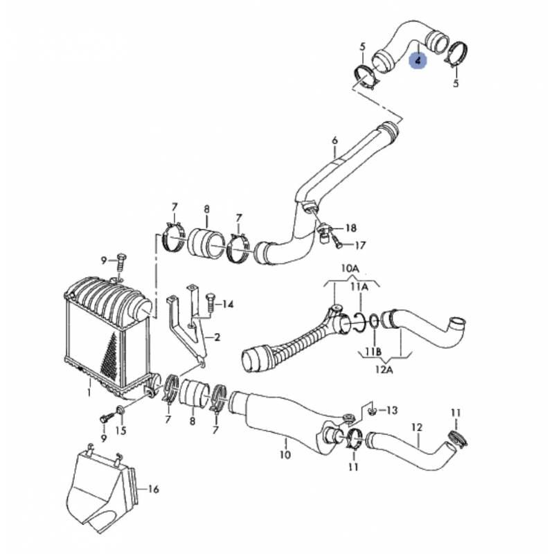 durite  flexible de raccord de vanne egr pour 1l9 tdi ref 1j0145838e