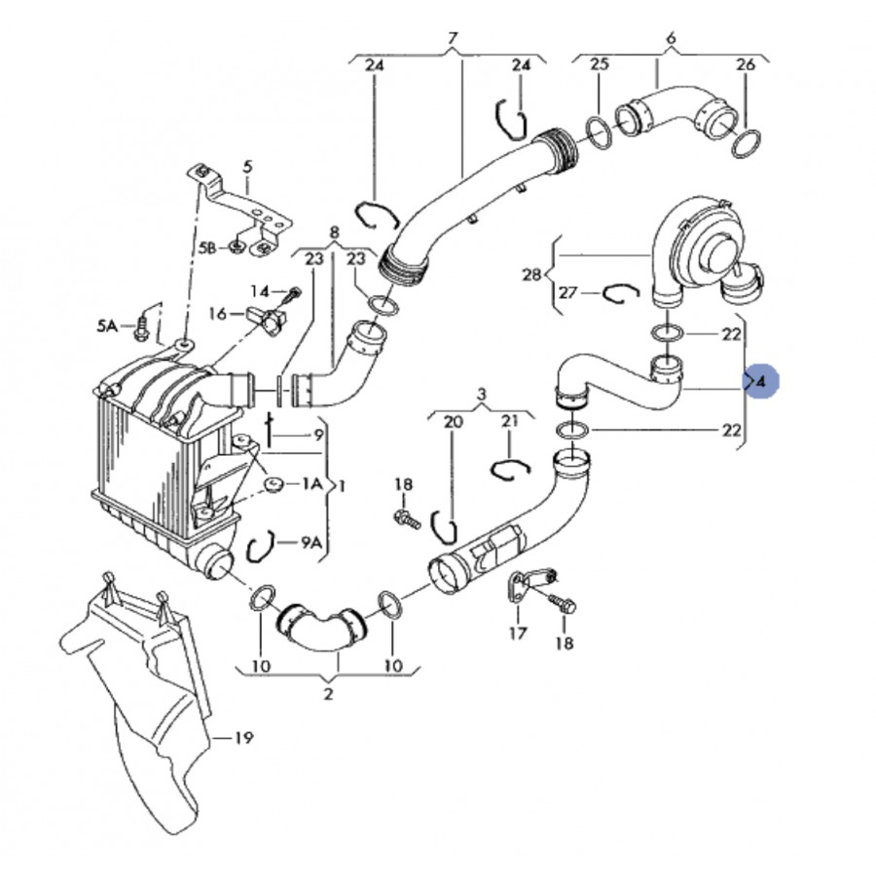 durite  flexible de pression pour vw  seat  skoda 1l9 tdi