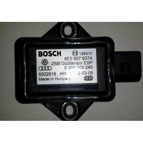 Capteur combiné d'accélération ESP G419 pour Audi / Seat / VW / Skoda ref 8E0907637A Bosch 0265005245