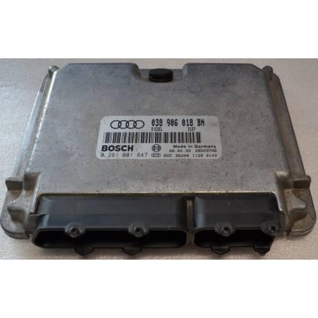 Calculateur moteur ref 038906018BN / 038906018GS réf Bosch 0281001847 / 0 281 001 847