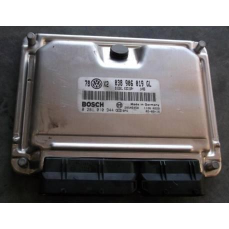 Calculateur moteur ref 038906019GL réf Bosch 0281010944 / 0 281 010 944