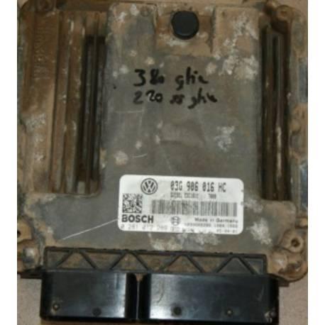 Engine control for Seat Altea 1L9 TDI 105 cv ref 03G906018HC / Ref Bosch 0281012289