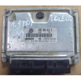 Calculateur moteur Seat Leon 1 / Toledo 1L9 TDI 90 cv AGR ref 038906012S ref bosch 0281010059 / 0 281 010 059