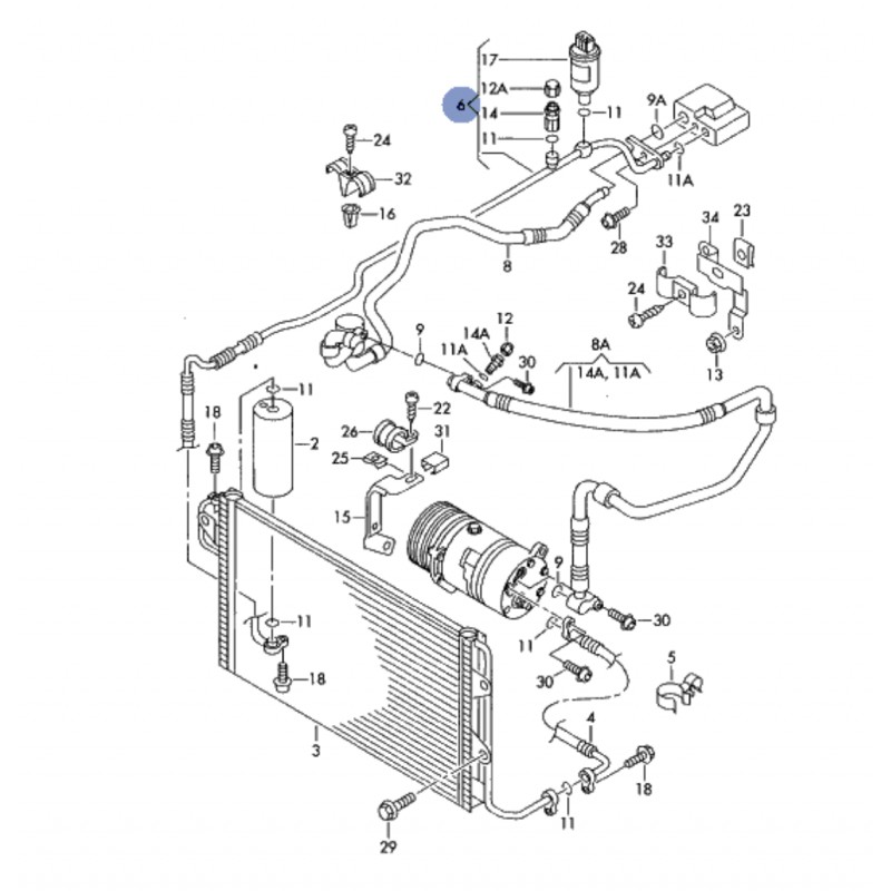 tuyau de climatisation    flexible de r u00e9frig u00e9rant ref 3b1260712d    3b1260709a    3b1260710a