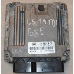 Engine control / unit ecu motor VW Golf 5 / Jetta ref 03G906016CB / Ref Bosch 0281011900 / 0 281 011 900