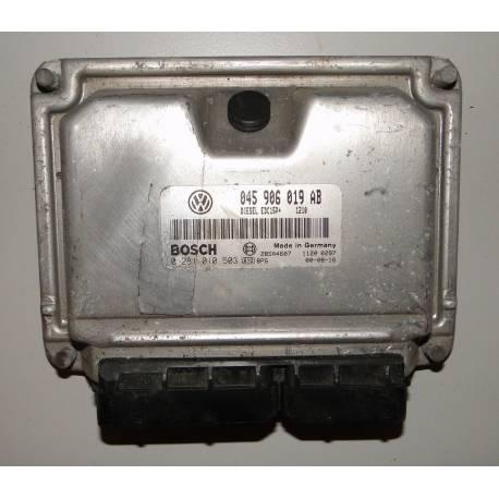 Calculateur moteur pour VW Polo 6N 1L4 TDI 75 cv ref 045906019AB / ref Bosch 0281010503 / 0 281 010 503