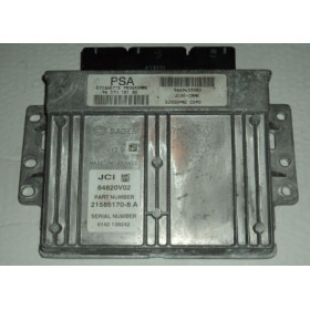 Calculateur moteur PEUGEOT ref 9649433980 / 96 570 181 80 / 84820V02