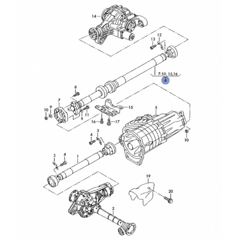 2008 Volkswagen Touareg 2 Transmission: Shaft, Transmission Vw Touareg, Porsche Cayenne Ref