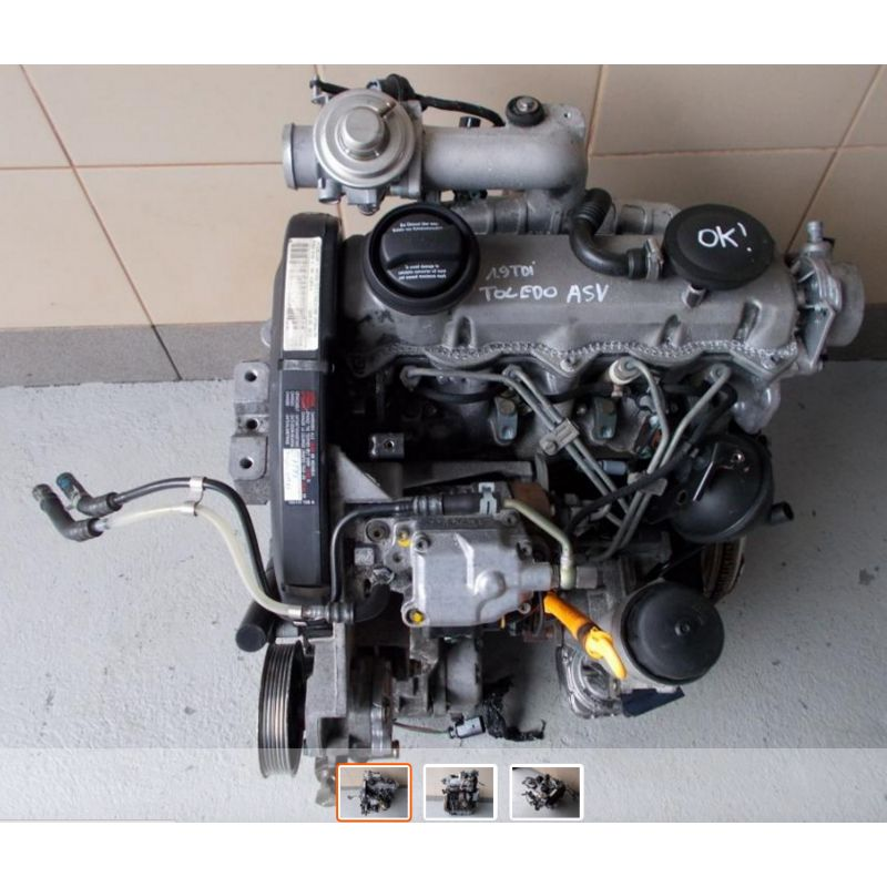 moteur 1l9 tdi 110 cv type asv