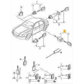 Serrure barillet de porte avant conducteur pour Audi A3 8P / A4 B6 / B7 ref 8E1837063CD / 107837063CD