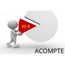Acompte de 50 euros non remboursable pour réservation/commande de pièce automobile