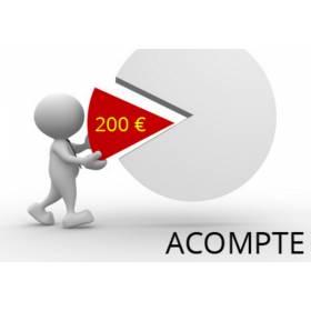 Acompte de 200 euros non remboursable pour réservation/commande de pièce automobile