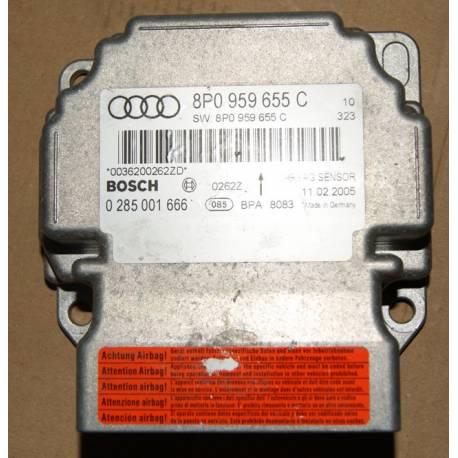 AIRBAG CONTROL MODULE ECU Audi A3 8P ref 8P0959655C Bosch 0285001666