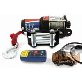Electric winch with steel cable for Quad / VTT, 12V, 2500lbs (1125 kg)
