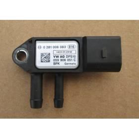 Sensor of differential pressure for Audi / Seat / VW / Skoda ref 059906051C 0281006083