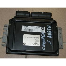 Calculateur moteur / Boitier de base DME pour Mini Cooper S ref 1214 7520019-01 / S118012001M