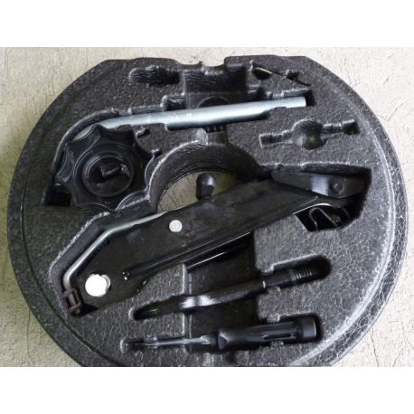 kit coffre outils vw audi seat ref 1k0012115e 1k0012115f galette roue de secours jante. Black Bedroom Furniture Sets. Home Design Ideas