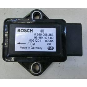 Capteur combiné d'accélération ESP Bosch ref 0265005253 / 9645447780