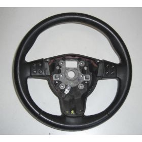 Black leather steering-wheel Seat Leon 2 Altea Toledo 5P0419091C 5P0419091T + airbag 1P0880201A 1P0880201C 1P0880201P 1P0880201R