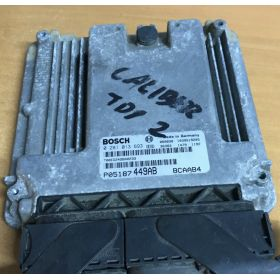 Engine control / unit ecu motor DODGE CALIBER 2.0 CRD P05187449AB 0281013693