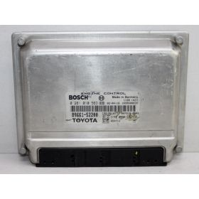 Engine control / unit ecu motor TOYOTA Yaris 1.4 D4D 89661-52200 Bosch 0281010563