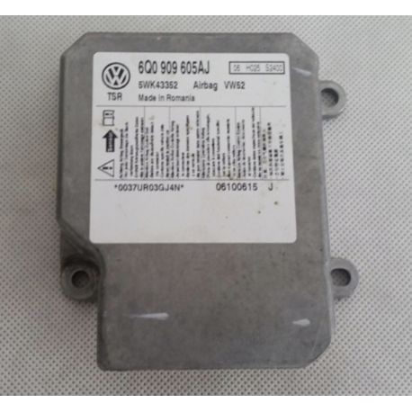 Calculateur d'airbag VW Caddy ref 6Q0909605AJ 6Q0909605AP