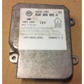 Calculateur d'airbag VW SEAT SKODA ref 6Q0909605H 6QO909605H 1C0909605H  Index 3