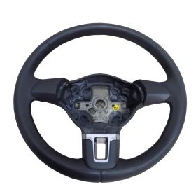 Black leather steering-wheel VW CADDY GOLF TIGUAN GOLF PLUS ref 5K0419091J