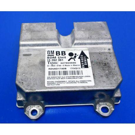 Calculateur d'airbag Opel Corsa ref 13262361 GM-BB Temic 327963935