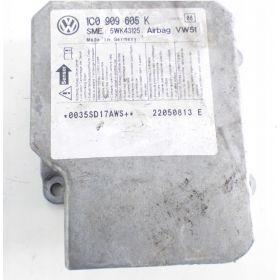 AIRBAG CONTROL MODULE ECU VW Polo / Fox / Golf / Suran / Skoda Fabia / Superb / Roomster ref 1C0909605K index 08
