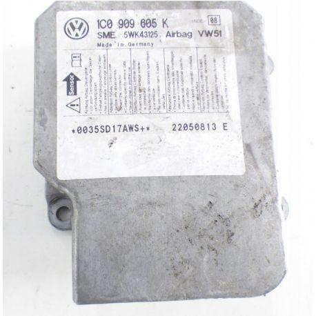 Calculateur d'airbag VW Polo / Fox / Golf / Suran / Skoda Fabia / Superb / Roomster ref 1C0909605K index 08