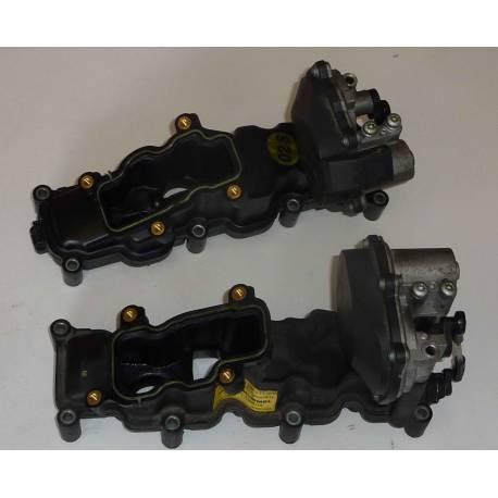 Tubulure / volet régulateur V6 TDI pour Audi A4 / A5 / A6 / Q7 / VW Phaeton / Touareg ref 059129711CL /  059129712BR