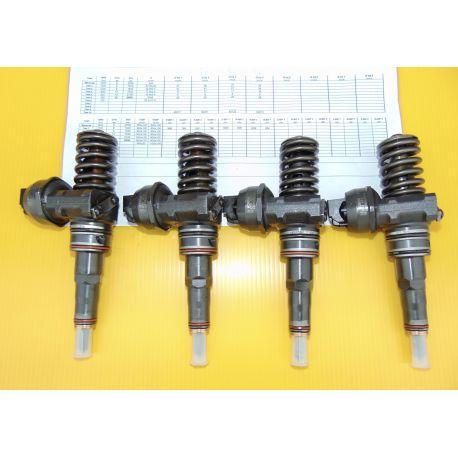 4 injecteurs pompe Audi VW Seat Skoda 1.4 1.9 TDI ref 038130073F 038130073L 045130073T 045130079X Bosch 0414720085 0986441551