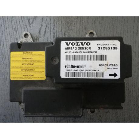 Module calculateur d'airbag VOLVO S40 V50 C30 C70 ref 31295109 Continental 00405178A5