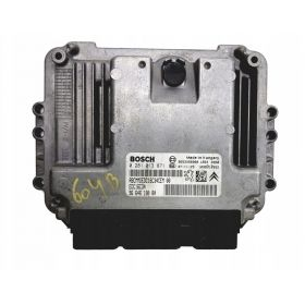 Engine control / unit ecu motor Peugeot 308 9653958980 9664618080 Bosch 0281013871