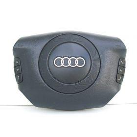 Airbag volant / Module de sac gonflable avec commandes Audi A4 B5 / A6 / A8 ref 4B0880201M