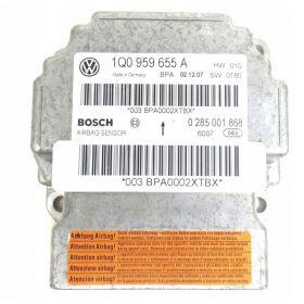 Airbag crash sensors module  VW EOS 1Q0959655A  Bosch 0285001868