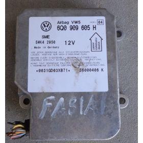 Airbag crash sensors module  VW SEAT SKODA ref 6Q0909605H 6QO909605H  Index 04