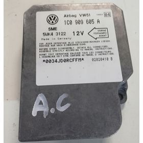 Airbag crash sensors module VW / Seat / Skoda ref 1C0909605A Index 04 Sme 5WK43122
