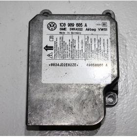 Calculateur d'airbag VW / Seat / Skoda ref 1C0909605A Index 08 Sme 5WK43122