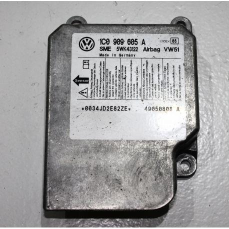 airbag ecu unit VW / Seat / Skoda ref 1C0909605A Index 08 Sme 5WK43122