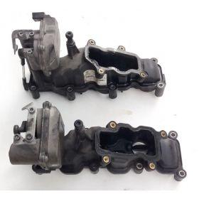 Tubulure / volet régulateur V6 TDI pour Audi A4 / A6 / A8 / Q7 VW Phaeton / Touareg ref 059129711CK / 059129712BQ