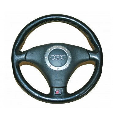 Leather steering-wheel 3 branches with airbag for Audi TT type 8N ref 8N0880201