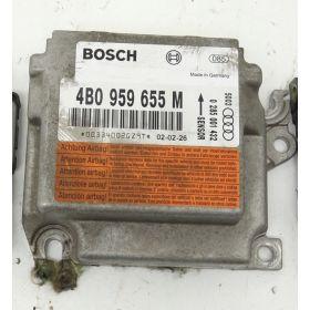 Airbag control unit ecu Audi A6 C5 ref 4B0959655M Bosch 0281001432