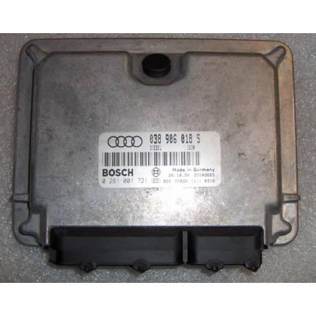Calculateur injection pour Audi A4 B5 1L9 TDI cv AFN ref 038906018S / Ref Bosch 0281001721