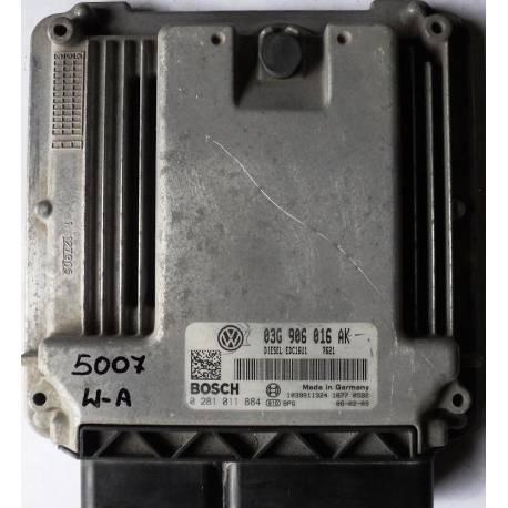 Calculateur moteur pour Seat Leon 2 1L9 TDI 105 ref 03G906016AK / Ref Bosch 0281011884