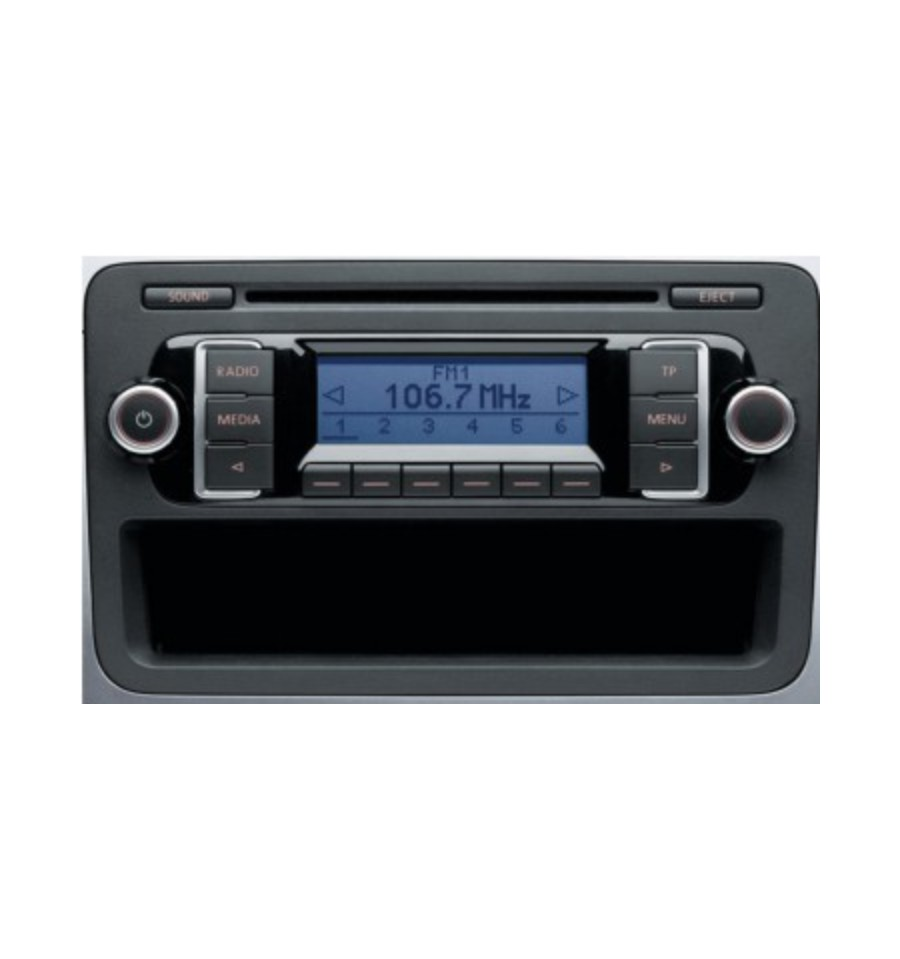 autoradio cd rcd 210 pour vw ref 5m0035156d 5m0035156dx. Black Bedroom Furniture Sets. Home Design Ideas