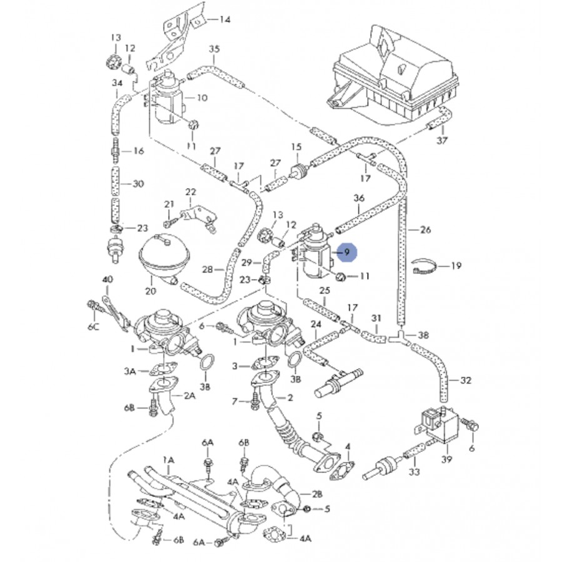 transducteur de pression 1l9 tdi 1h0906627    ref pierburg