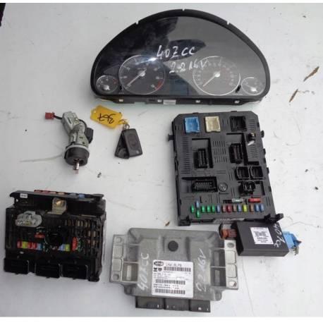 ECU Engine Complete Start Kit Peugeot 407 2.2 16V 9660942580 9659580780